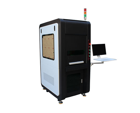 Black Fiber Laser Marking Machine With Protection Cover
